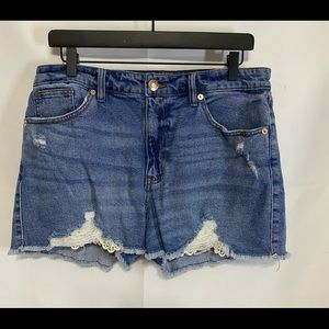 Wild Fable High Rise Distressed Jean Shorts 12
